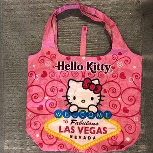NEW Hello Kitty Las Vegas Foldable Tote Bag
